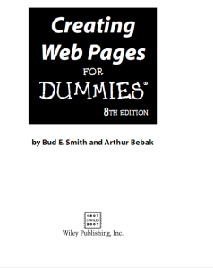 Creating Web Pages for DUMmIES 8th download